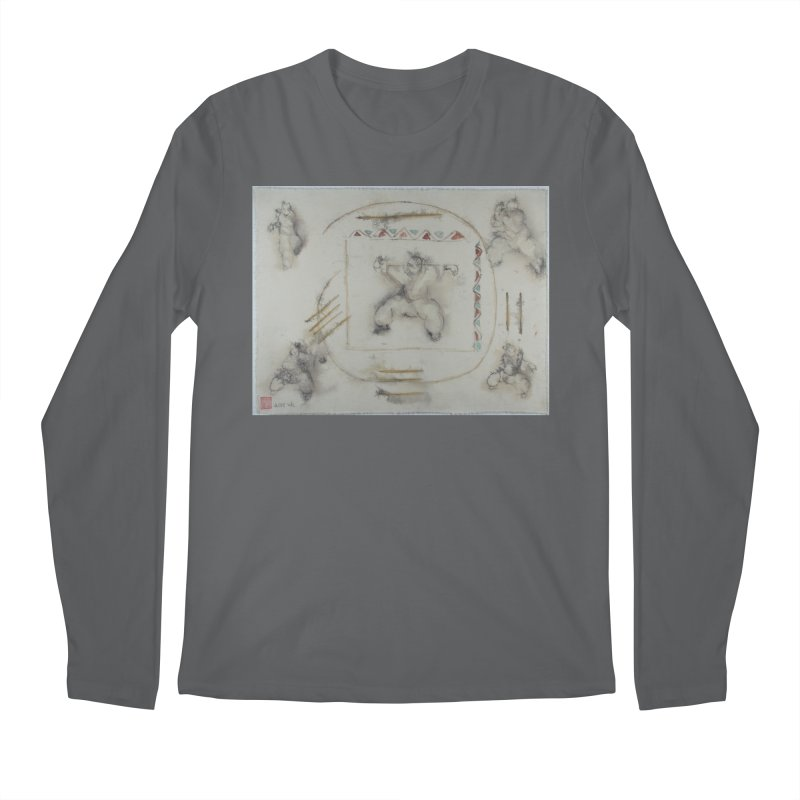 In Transition To Diagonal Posture Men's Longsleeve T-Shirt by arttaichi's Artist Shop