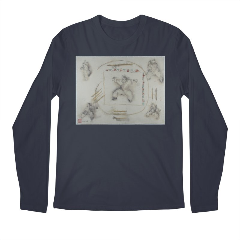 In Transition To Diagonal Posture Men's Regular Longsleeve T-Shirt by arttaichi's Artist Shop