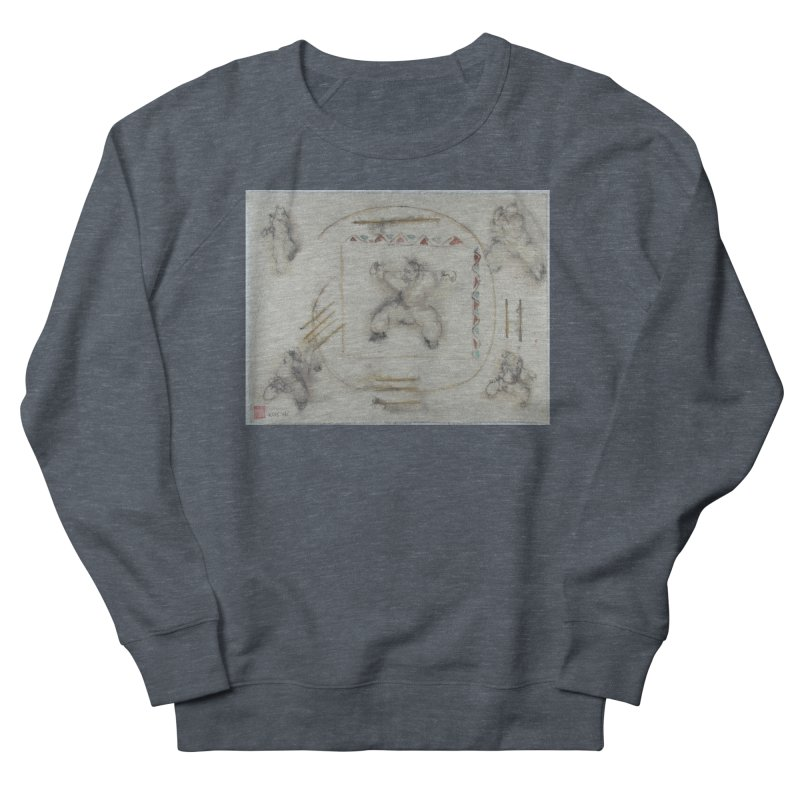In Transition To Diagonal Posture Women's French Terry Sweatshirt by arttaichi's Artist Shop