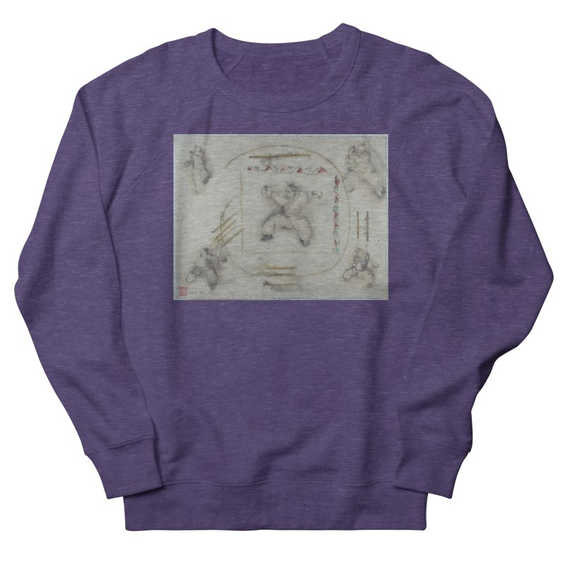 In Transition To Diagonal Posture Men's French Terry Sweatshirt by arttaichi's Artist Shop
