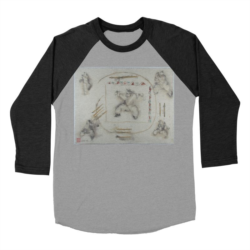 In Transition To Diagonal Posture Men's Baseball Triblend Longsleeve T-Shirt by arttaichi's Artist Shop