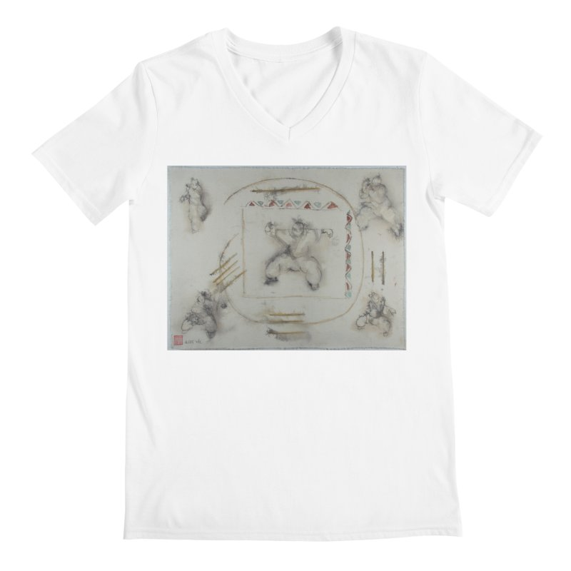 In Transition To Diagonal Posture Men's V-Neck by arttaichi's Artist Shop