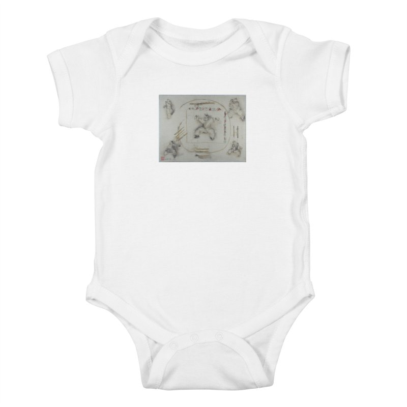 In Transition To Diagonal Posture Kids Baby Bodysuit by arttaichi's Artist Shop