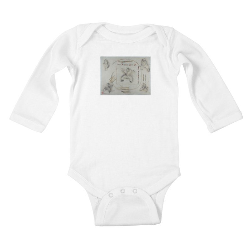 In Transition To Diagonal Posture Kids Baby Longsleeve Bodysuit by arttaichi's Artist Shop