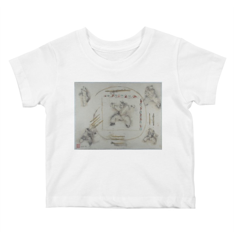 In Transition To Diagonal Posture Kids Baby T-Shirt by arttaichi's Artist Shop