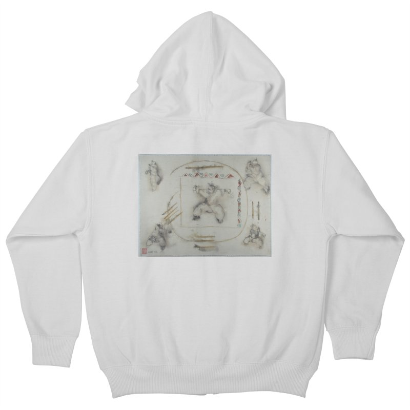 In Transition To Diagonal Posture Kids Zip-Up Hoody by arttaichi's Artist Shop