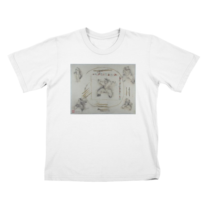 In Transition To Diagonal Posture Kids T-Shirt by arttaichi's Artist Shop