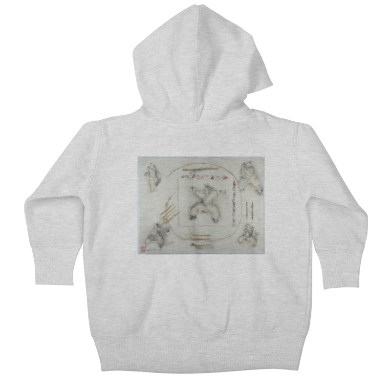 In Transition To Diagonal Posture Kids Baby Zip-Up Hoody by arttaichi's Artist Shop