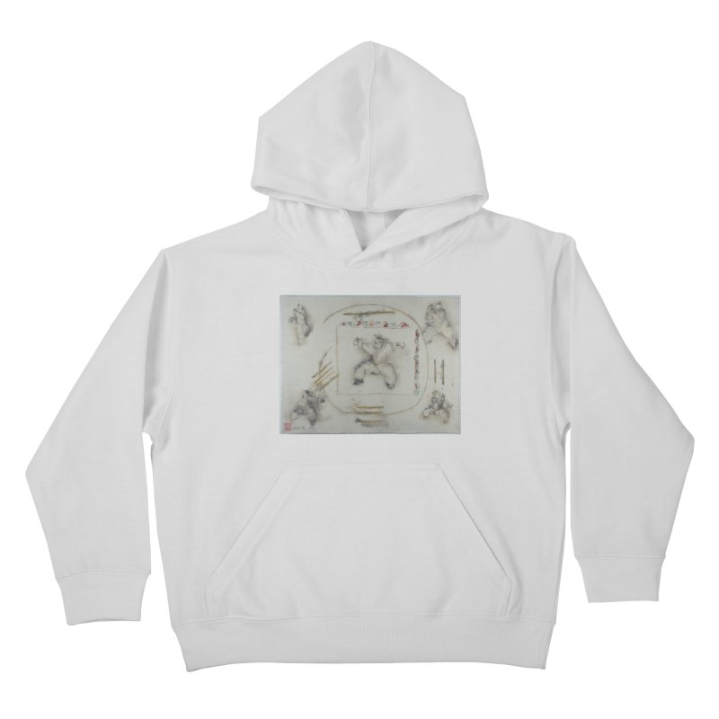 In Transition To Diagonal Posture Kids Pullover Hoody by arttaichi's Artist Shop