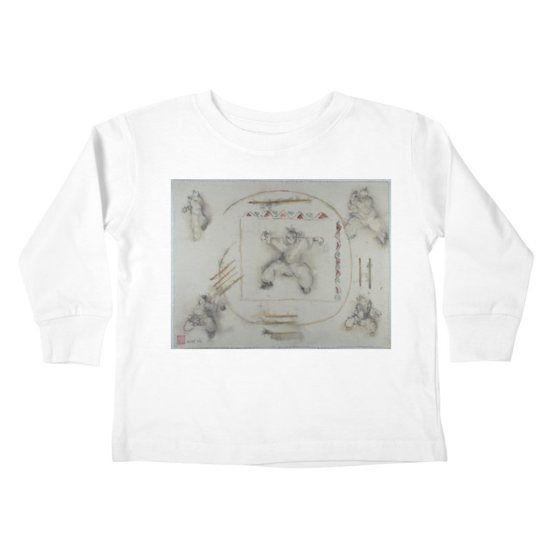 In Transition To Diagonal Posture Kids Toddler Longsleeve T-Shirt by arttaichi's Artist Shop