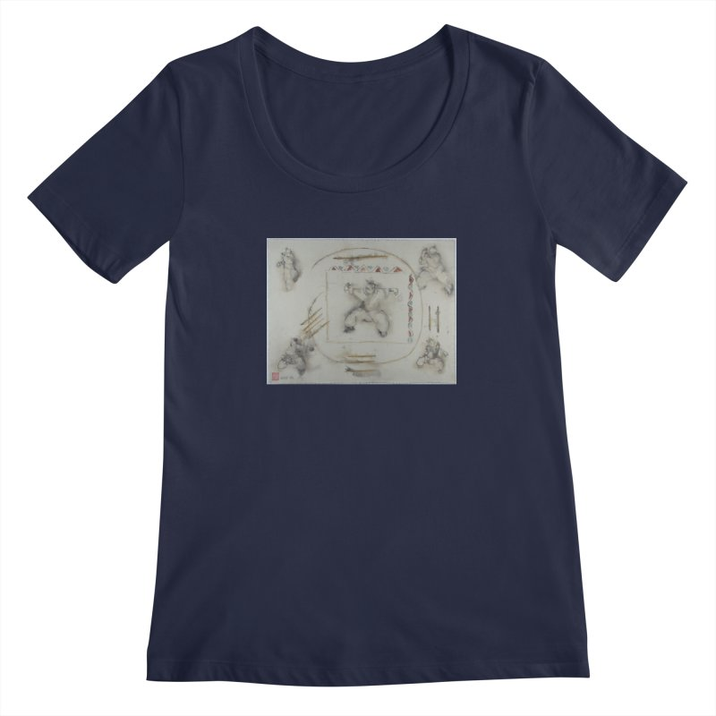 In Transition To Diagonal Posture Women's Scoopneck by arttaichi's Artist Shop