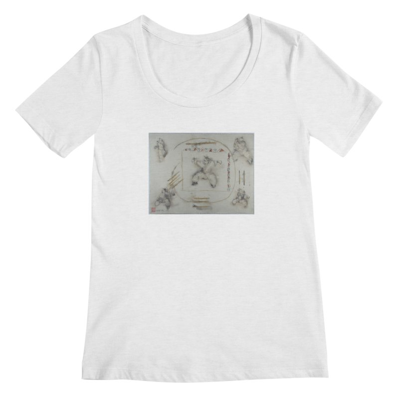 In Transition To Diagonal Posture Women's Regular Scoop Neck by arttaichi's Artist Shop