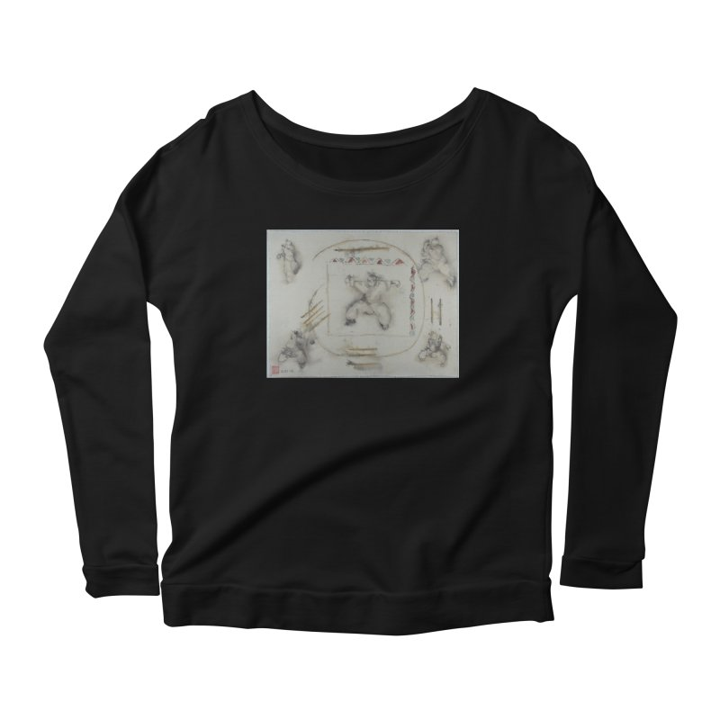 In Transition To Diagonal Posture Women's Scoop Neck Longsleeve T-Shirt by arttaichi's Artist Shop