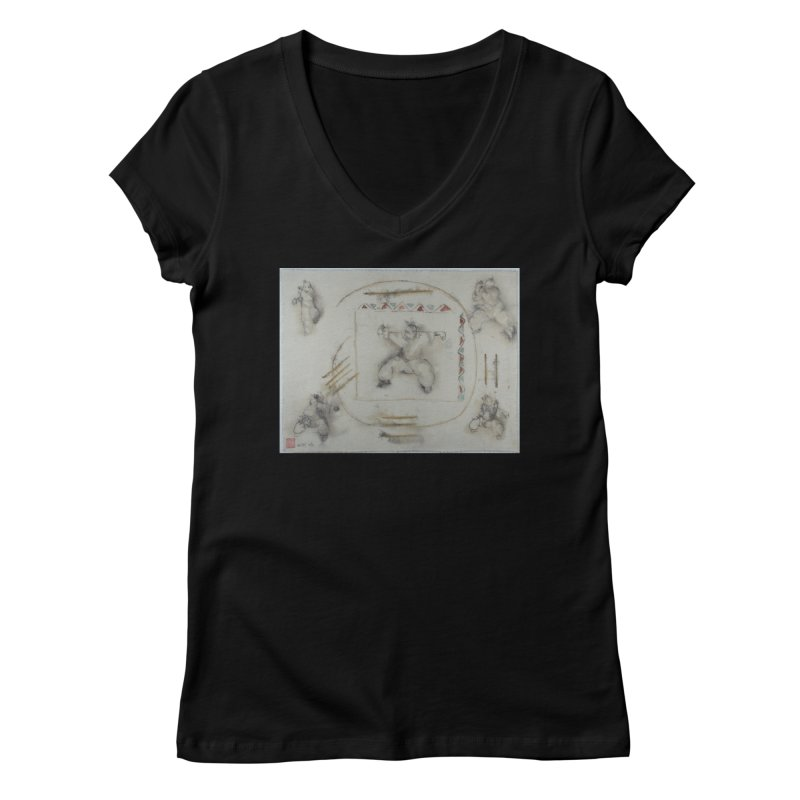In Transition To Diagonal Posture Women's Regular V-Neck by arttaichi's Artist Shop