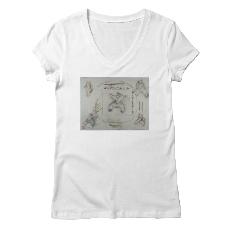 In Transition To Diagonal Posture Women's V-Neck by arttaichi's Artist Shop