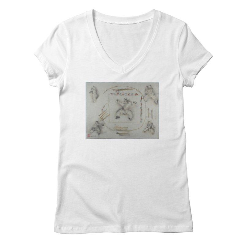 In Transition To Diagonal Posture Women's Regular V-Neck by arttaichi's Artist Shop