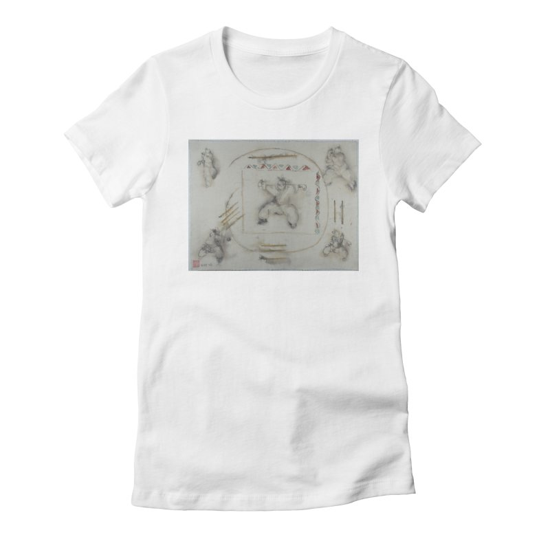 In Transition To Diagonal Posture Women's Fitted T-Shirt by arttaichi's Artist Shop
