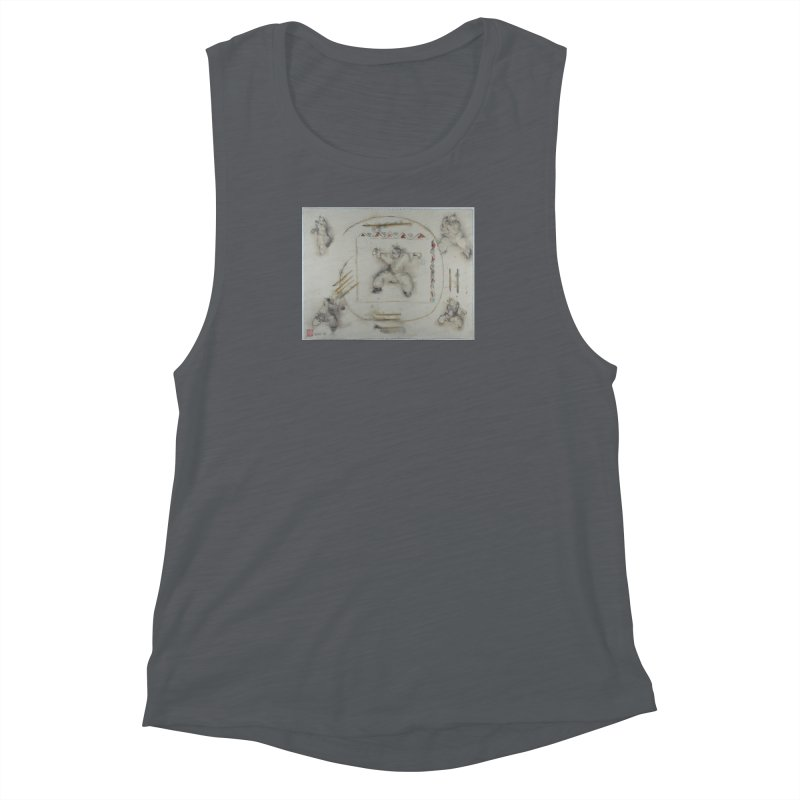 In Transition To Diagonal Posture Women's Muscle Tank by arttaichi's Artist Shop
