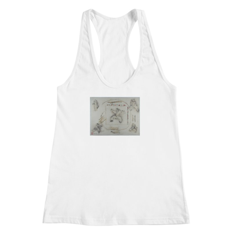 In Transition To Diagonal Posture Women's Racerback Tank by arttaichi's Artist Shop