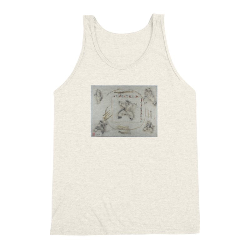 In Transition To Diagonal Posture Men's Triblend Tank by arttaichi's Artist Shop