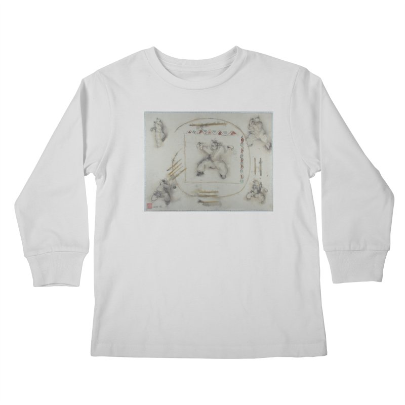 In Transition To Diagonal Posture Kids Longsleeve T-Shirt by arttaichi's Artist Shop