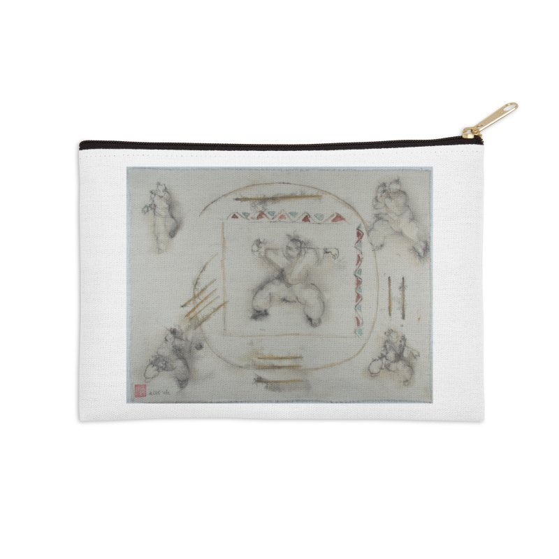 In Transition To Diagonal Posture Accessories Zip Pouch by arttaichi's Artist Shop
