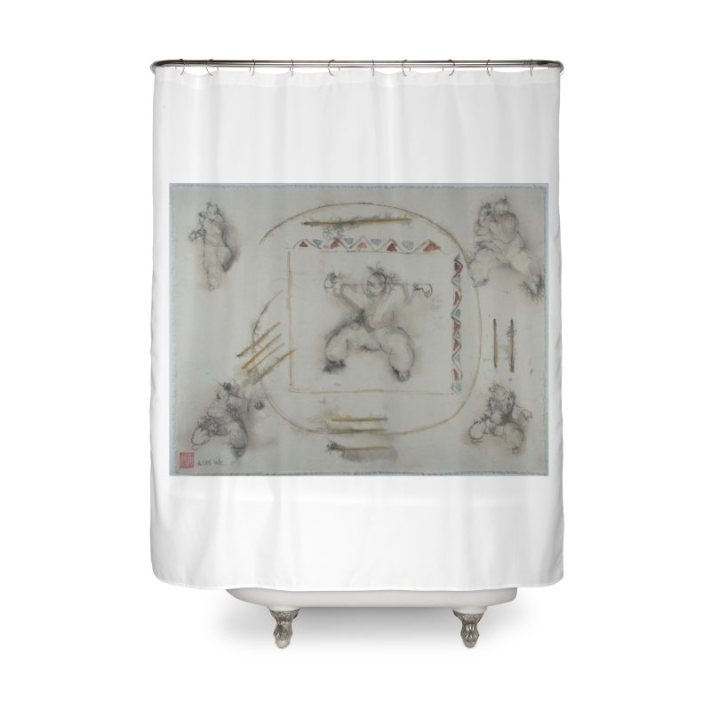 In Transition To Diagonal Posture Home Shower Curtain by arttaichi's Artist Shop