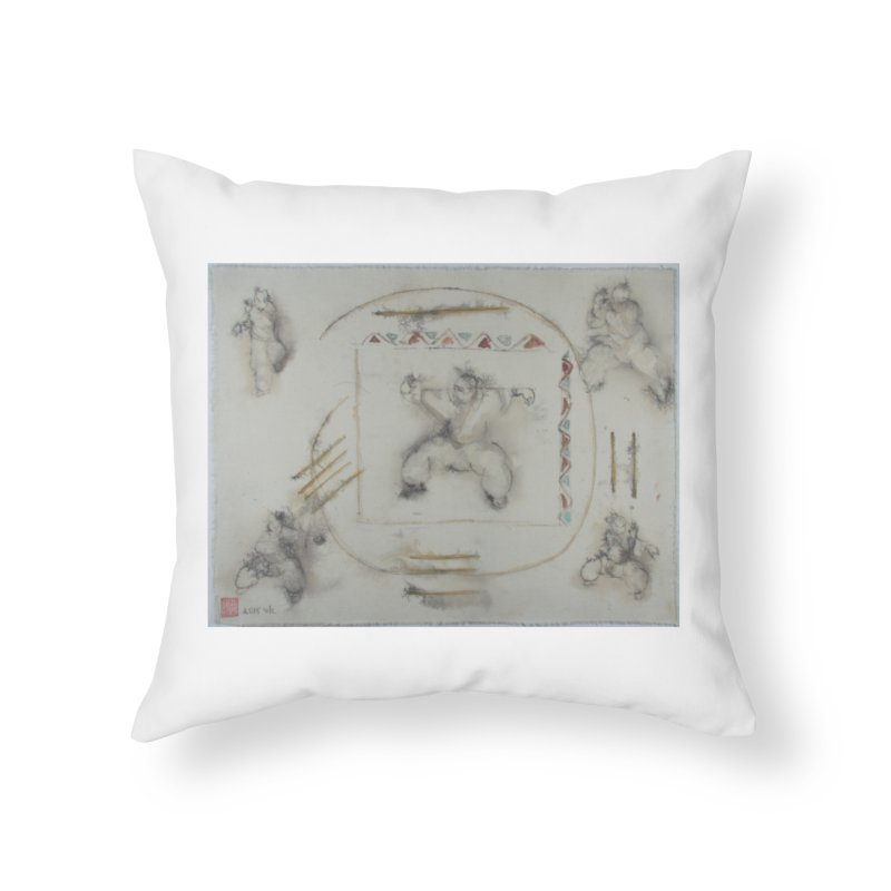 In Transition To Diagonal Posture Home Throw Pillow by arttaichi's Artist Shop