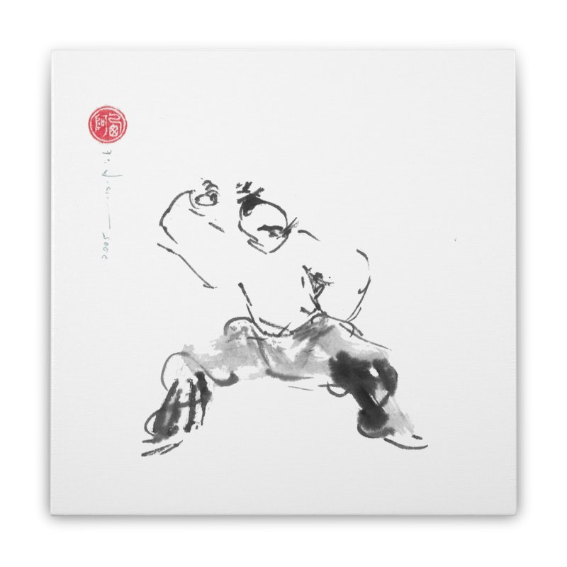 Fist Over Shoulder Home Stretched Canvas by arttaichi's Artist Shop