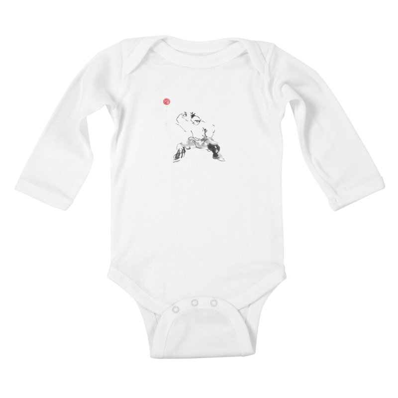 Fist Over Elbow Kids Baby Longsleeve Bodysuit by arttaichi's Artist Shop