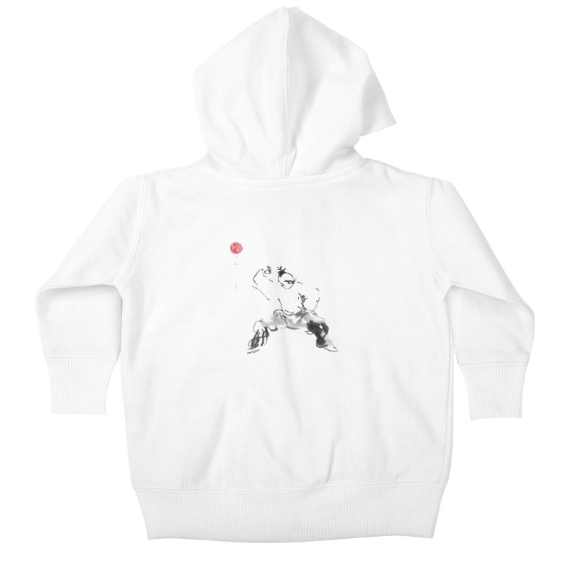 Fist Over Elbow Kids Baby Zip-Up Hoody by arttaichi's Artist Shop