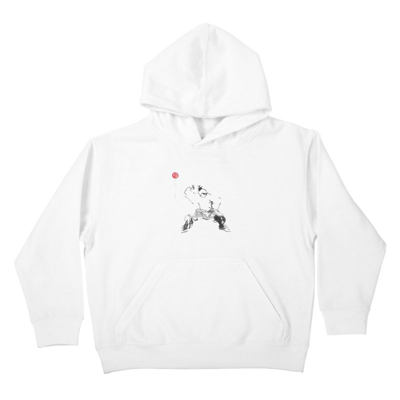 Fist Over Elbow Kids Pullover Hoody by arttaichi's Artist Shop