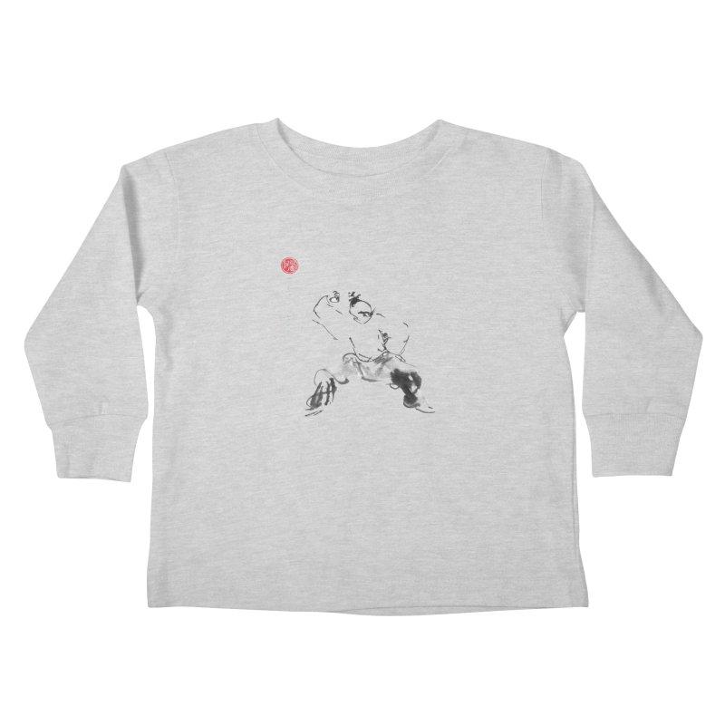 Fist Over Elbow Kids Toddler Longsleeve T-Shirt by arttaichi's Artist Shop