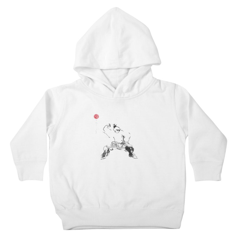 Fist Over Elbow Kids Toddler Pullover Hoody by arttaichi's Artist Shop