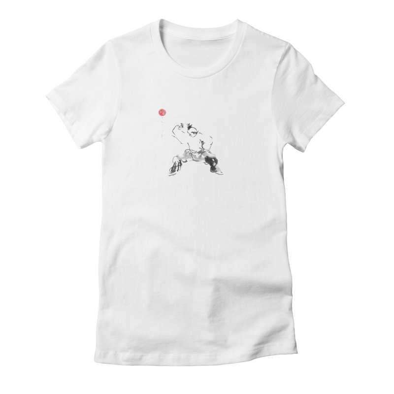 Fist Over Elbow Women's Fitted T-Shirt by arttaichi's Artist Shop