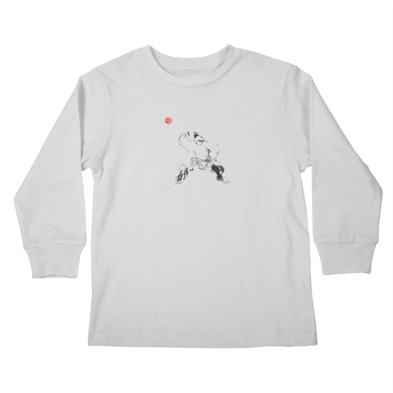 Fist Over Elbow Kids Longsleeve T-Shirt by arttaichi's Artist Shop