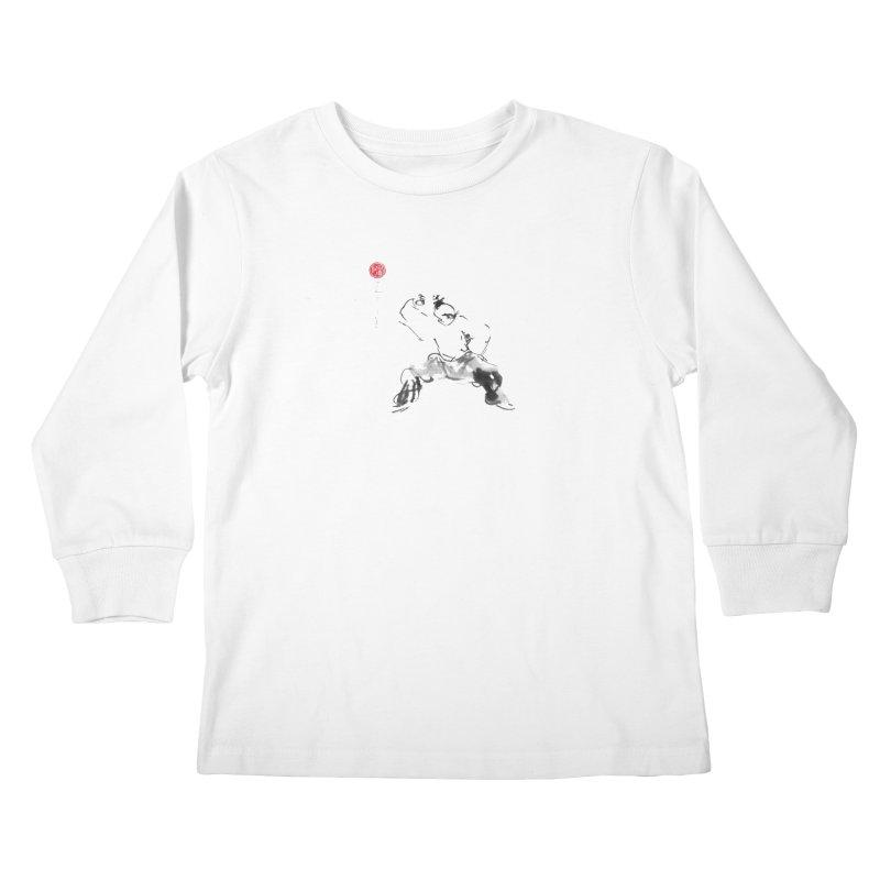 Fist Over Elbow Kids Longsleeve T-Shirt by arttaichi's Artist Shop