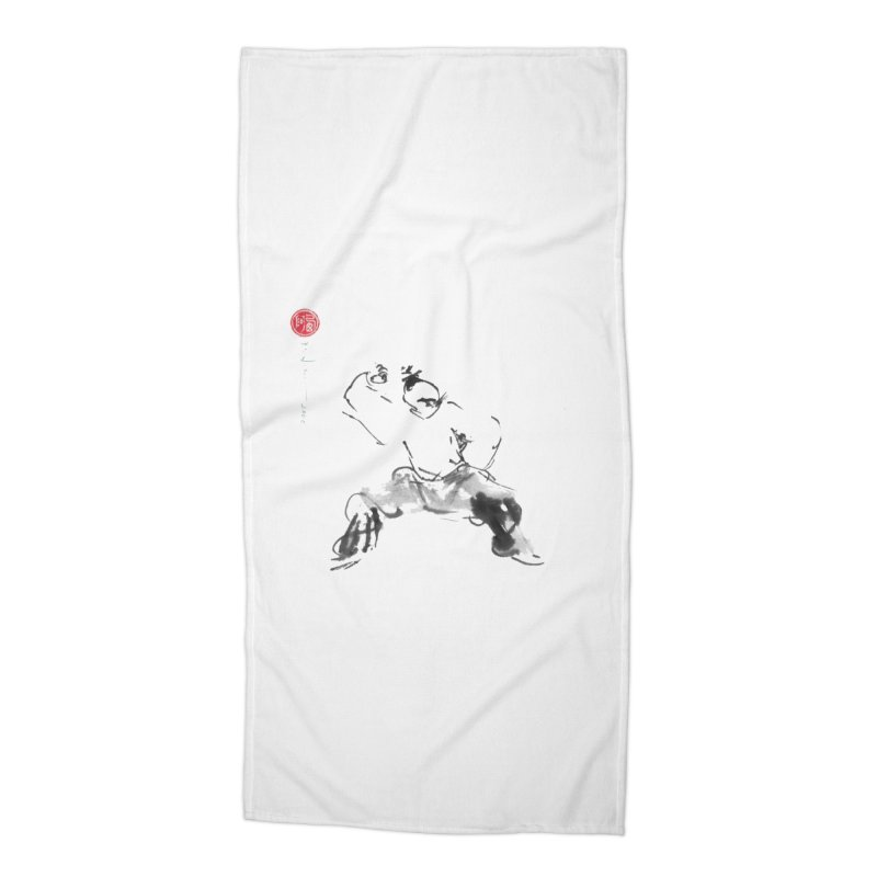Fist Over Elbow Accessories Beach Towel by arttaichi's Artist Shop