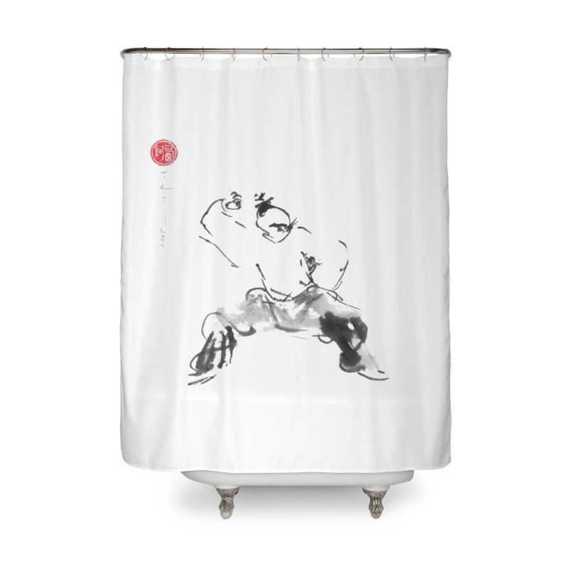 Fist Over Elbow Home Shower Curtain by arttaichi's Artist Shop