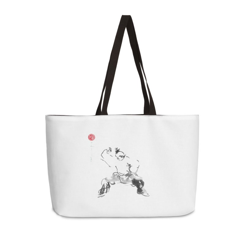 Fist Over Elbow Accessories Weekender Bag Bag by arttaichi's Artist Shop