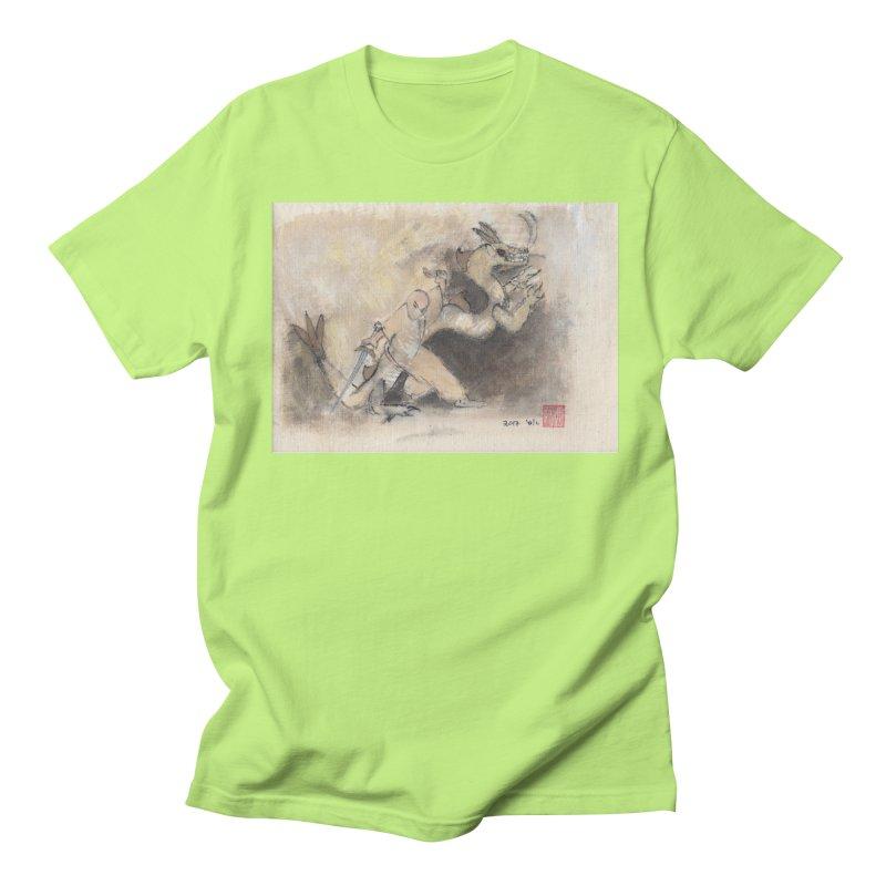 Black Dragon Wagging Tail Men's T-Shirt by arttaichi's Artist Shop