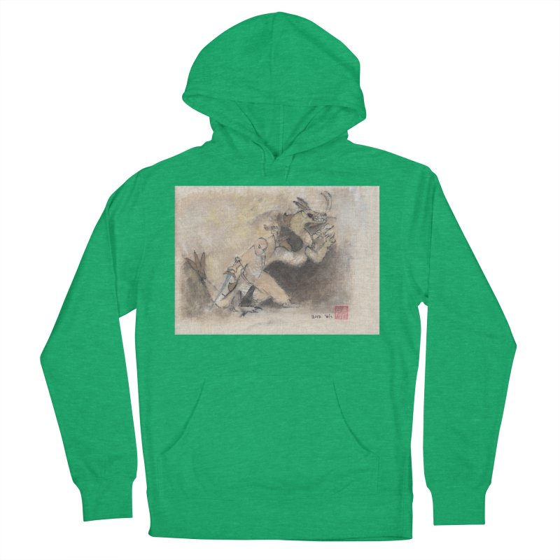 Black Dragon Wagging Tail Women's Pullover Hoody by arttaichi's Artist Shop