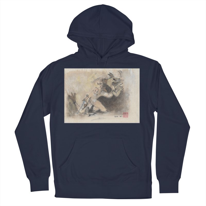 Black Dragon Wagging Tail Women's French Terry Pullover Hoody by arttaichi's Artist Shop