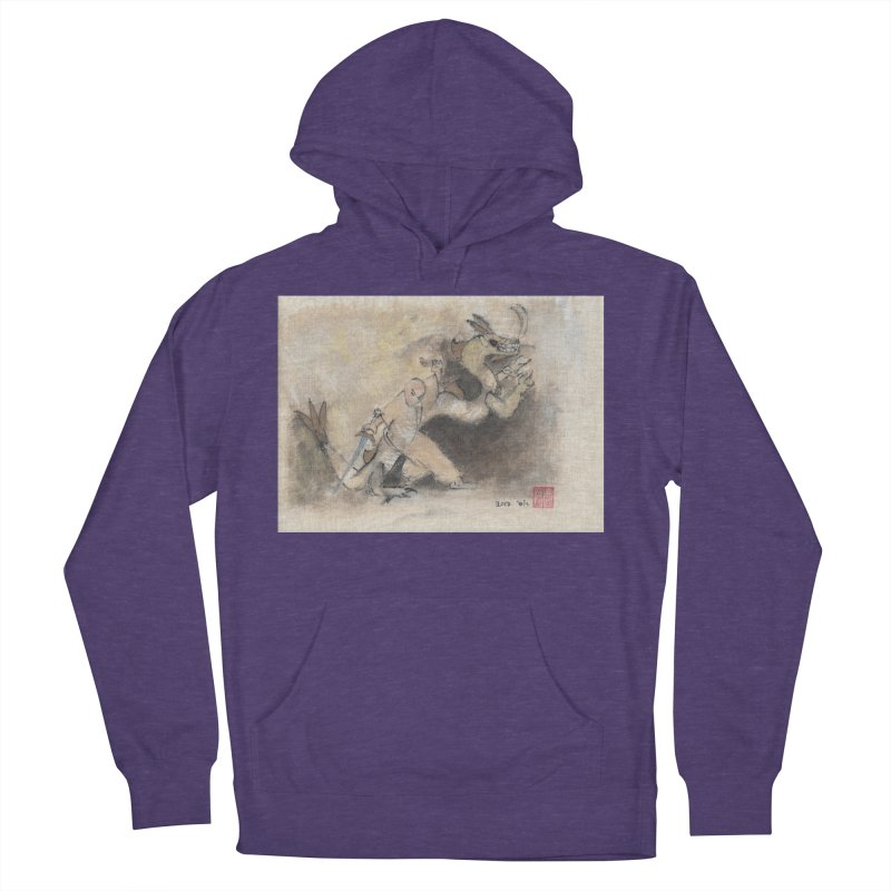 Black Dragon Wagging Tail Men's Pullover Hoody by arttaichi's Artist Shop