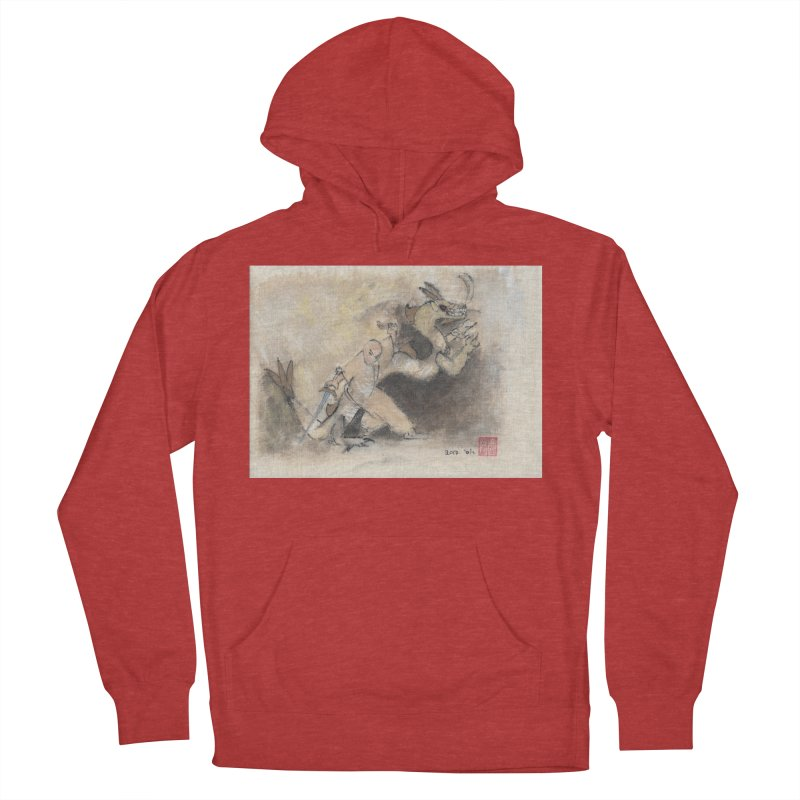 Black Dragon Wagging Tail Men's French Terry Pullover Hoody by arttaichi's Artist Shop