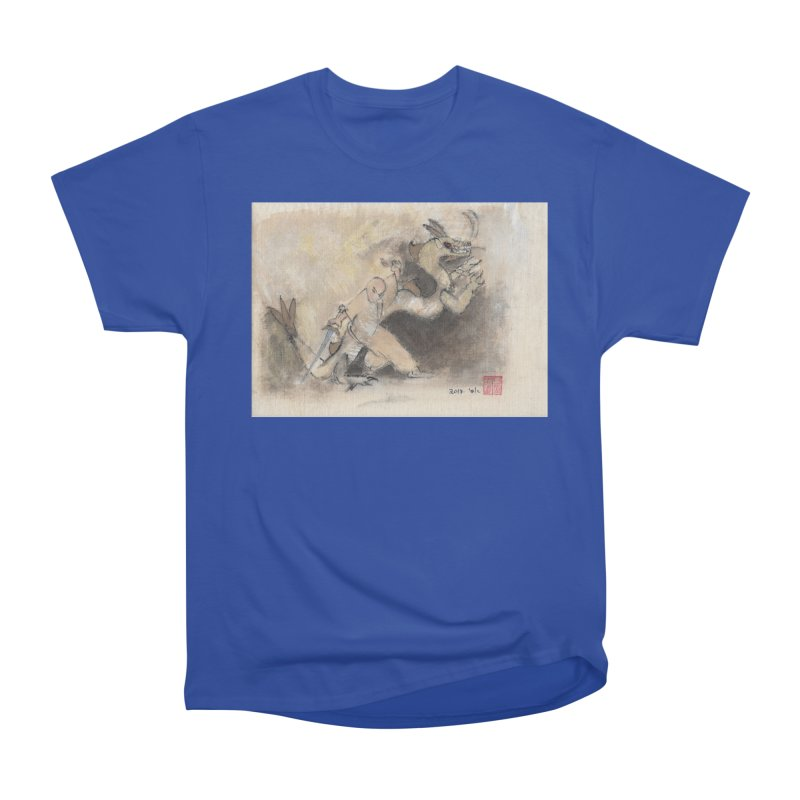 Black Dragon Wagging Tail Men's Classic T-Shirt by arttaichi's Artist Shop