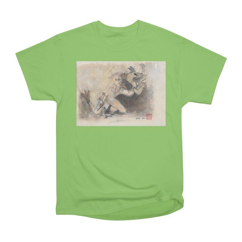 Black Dragon Wagging Tail Men's Heavyweight T-Shirt by arttaichi's Artist Shop