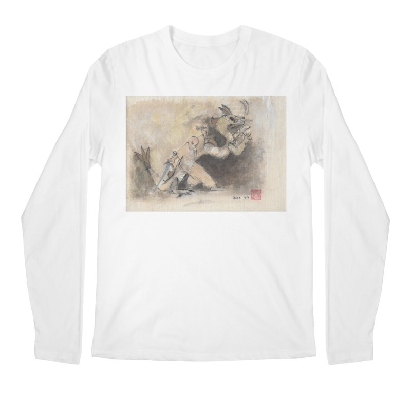 Black Dragon Wagging Tail Men's Regular Longsleeve T-Shirt by arttaichi's Artist Shop