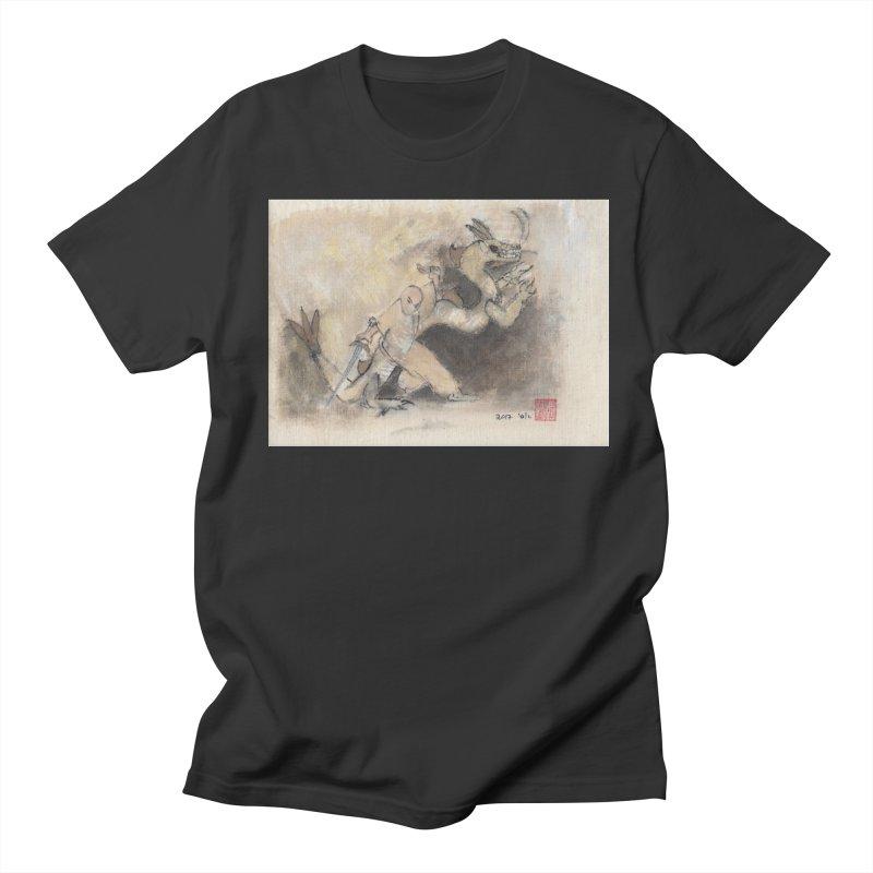 Black Dragon Wagging Tail Women's Regular Unisex T-Shirt by arttaichi's Artist Shop