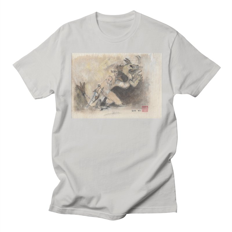 Black Dragon Wagging Tail Men's Regular T-Shirt by arttaichi's Artist Shop